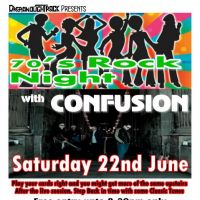 Confusion 70s Party Night return to the Dreadnought at DreadnoughtRock