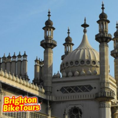 Rags to Regency sight seeing cycling Brighton tour at Brighton Train Station