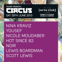 Yousef presents CIRCUS : Nina Kraviz Yousef Nicole Moudaber Hot Since 82 Noir Lewis Boardman  at East Village Arts Club