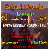 Monday Salsa, Kizomba &#38; Ladies Styling Lessons Plus 1am Dancing at Quadrant Lounge