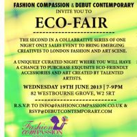 Fashion ComPassions Eco-Friendly Event June 19th  at Debut Contemporary