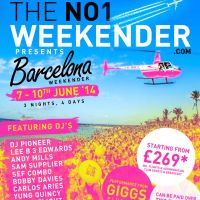 The NO1 WEEKENDER - DESTINATION BARCELONA at Barcelona