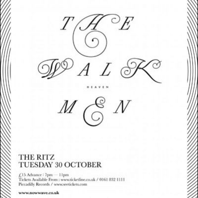 Now Wave Presents: The Walkmen Tickets | HMV Ritz  Manchester  | Tue 30th October 2012 Lineup