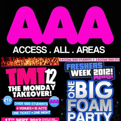 Exeter University Freshers Week A.A.A Pass Tickets | The Lemon Grove EXETER UNIVERSITY EXETER  | Mon 17th September 2012 Lineup