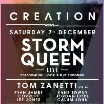 WIRED EVENTS Presents CREATION - STORM QUEEN Live PA at Plug