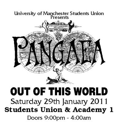 Pangaea Tickets | University Of Manchester Students Union - Union Bar Manchester  | Sat 29th January 2011 Lineup