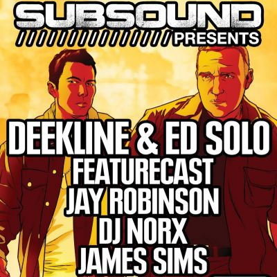 SubSound Presents: Deekline & Ed Solo Tickets | 40 SEEL ST Liverpool  | Sat 20th April 2013 Lineup
