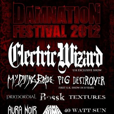 Damnation Festival 2012 Tickets | Leeds University Union Leeds  | Sat 3rd November 2012 Lineup