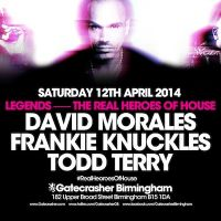 Gatecrasher Pres. Legends! Feat. David Morales, Frankie Knuckles & Todd Terry
