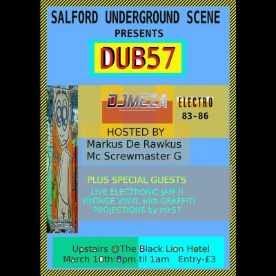 DUB57 LIVE Electronic Jam with Special Guests Tickets | The Black Lion Salford  | Sat 10th March 2012 Lineup