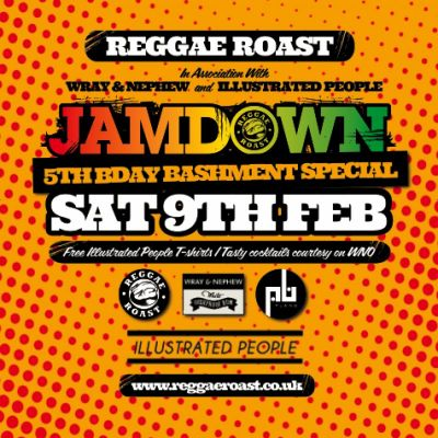 REGGAE ROAST: JAMDOWN 5th Birthday w/ THE HEATWAVE + More!! Tickets | Plan B London  | Sat 9th February 2013 Lineup