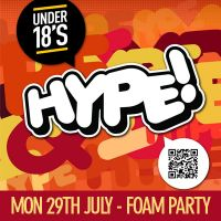 Hype! Under 18s Ibiza Foam Party at Candy Club