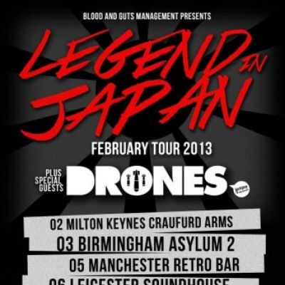 Cherry Valentine Presents Legend In Japan, Drones + Guests Tickets | Retro Bar Manchester  | Tue 5th February 2013 Lineup