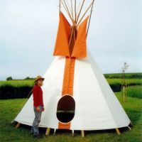 Tipi Hire at Chagstock Festival at Whiddon Down