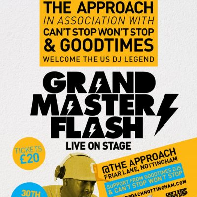 Grandmaster Flash  Tickets | The Approach Nottingham  | Sun 30th March 2014 Lineup