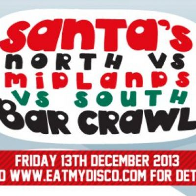 Santa's North v Midlands v South Xmas Bar Crawl! at Various Sheffield Venues