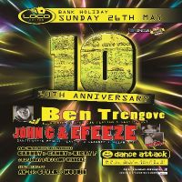 Dance Attack 10th Anniversary - Feat DJ Ben T & John G/Efeeze at Club Loco