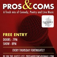 Pros & Coms at VInyl Bar