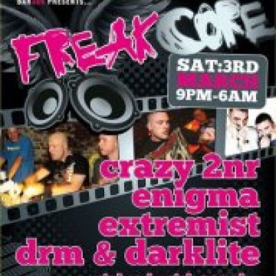 Freakcore Tickets | Bar 360 Stoke  | Sat 3rd March 2012 Lineup