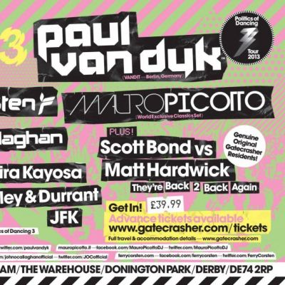 Gatecrasher 20th Birthday: The Reunion  Tickets | Donington Park Derby  | Sat 19th October 2013 Lineup
