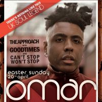 OMAR + LIVE BAND, THE APPROACH, 20th APRIL EASTER SUNDAY