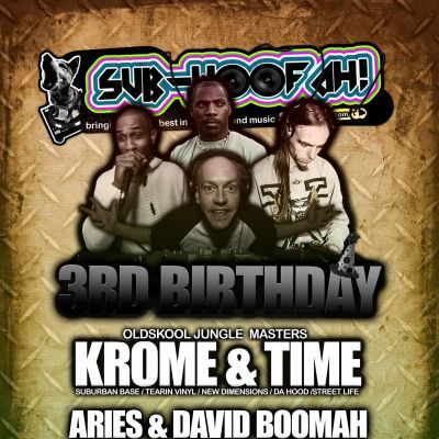 Reviews: SUB-WOOFAH! 3rd Birthday w/ KROME & TIME, DAVID BOOMAH & ARIES - 29/06 | Dry Bar  And  Dry Live Manchester  | Fri 29th June 2012