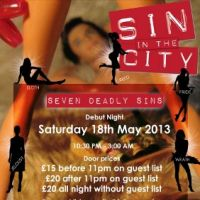 Sin in the City presents the - Seven Deadly sins at Cafe De Paris