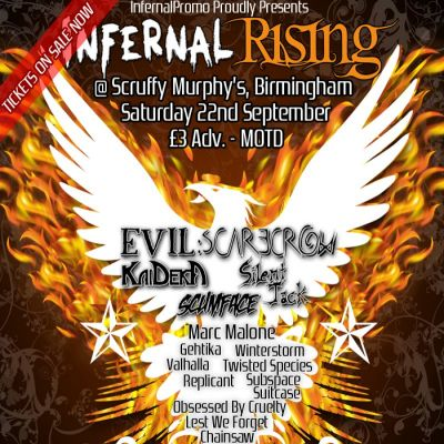 InfernalRising - A make up gig for InfernalFest Tickets | Scruffy Murphys Birmingham  | Sat 22nd September 2012 Lineup