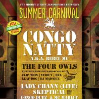 The Mighty Jungle Jams Summer Carnival with Congo Natty and Family at Mint Warehouse