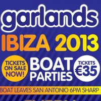 garlands boat party ibiza! at San Antonio Boat Parties