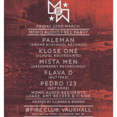 Mono Audio FREE Party Tickets | Fire London  | Fri 22nd March 2013 Lineup