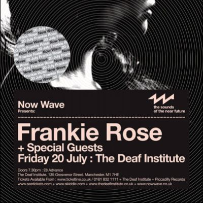 Now Wave Presents: Frankie Rose Tickets | The Deaf Institute Manchester  | Fri 20th July 2012 Lineup